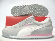 PUMA ROMA PIGSKIN EXT SNEAKERS WOMEN SHOES GRAY/WHITE 341959-02 SIZE 10 NEW