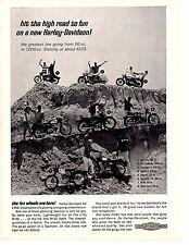1966 HARLEY-DAVIDSON FROM 50 CC TO 1200 CC  ~  ORIGINAL PRINT AD