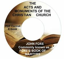 Foxes Acts-Monuments (Book of Martyrs) CD eBook PDF-Kindle-iPhone Compatible