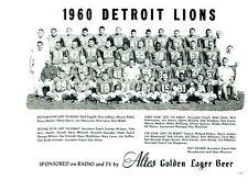 DETROIT LIONS 8X10 TEAM PHOTOS LOT OF 4  1960 1962 1971 1972 FOOTBALL