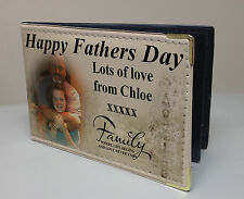 Personalised faux leather photo album, memory book, Happy Fathers day gift