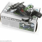 """Off Road ATV Receiver Trailer Hitch 2"""" 3 Way Ball Tow Hook Utility Lawn Tractor"""