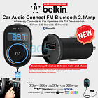 Belkin Universal F8M117 In Car Aircast Auto FM Transmitter Bluetooth Connection