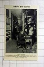 1920 Behind-the-scenes Musee Grevin, Paris Theatre Switchboard