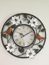 Birds And Blooms Wall Clock Wall Clock Spring Magnolia Blossoms Leaves Clock
