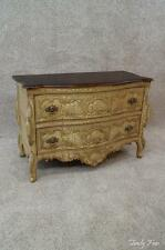 French Louis XV Commode Demilune Console Chest Entryway Foyer Cabinet Dresser