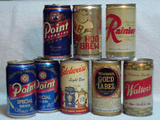 Lot 8 Vintage Beer Cans Wisconsin Gold Label Edelweiss Hog Brew Walter's Point