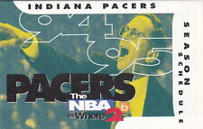 1994-95 INDIANA PACERS BASKETBALL POCKET SCHEDULE