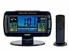 New Sharp Time Date Temp Barometer Humidity Atomic Clock Weather Station SPC595