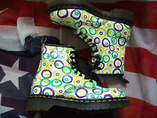 Rare Dr Martens White with circles boots size 4   (May16)