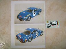 ALPINE A110 1600S WINNER RALLYE MONTE CARLO 1971 OVE ANDERSSON DECALS
