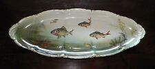 VINTAGE ROSENTHAL LONG FISH PLATTER WITH HANDPAINTED FISH AND MARINE SCENE 24""