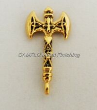 24K Gold Plated Ax Pendant Charm - W/O Necklace