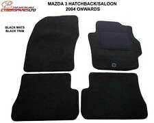 Mazda 3 2004 to 2009 Fully Tailored Car Mats in Black