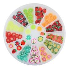 180 pieces MIX FRUIT TINY FIMO 3D SLICE NAIL ART WHEEL DIY Tips Deco