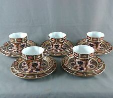 ROYAL CROWN DERBY IMARI 5 CUP AND SAUCER TRIO 1128