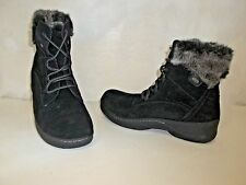 Denver Hayes Women's Brianna Low Cut Lace Up Winter Ankle Boot Black Size 9 NWOB