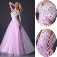 Stunning BEADED Corset Evening/Formal/Bridesmaid/Ball gown/Party/Prom Long Dress