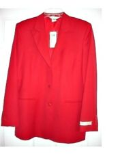 AUSTIN REED TYNDALE RED WORSTED WOOL JACKET 6