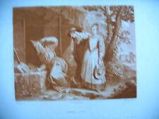 estampe 1885 FRERE LUCE grav Depollier