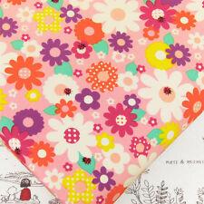Kawaii Flower Ladybird Retro Polka Dot Spot Cotton Print Fabric Crafts A54 by FQ
