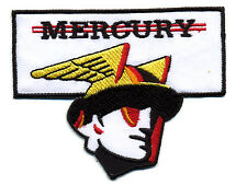 Hot Rod Patch Mercury Badge Merc God Head Classic Car Speed Shop Drag Race