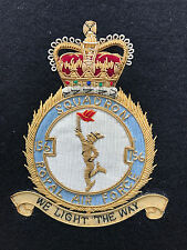 RAF 156 SQUADRON GOLD BULLION WIRE BLAZER BADGE