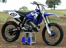 Yamaha Chad Reed Retro YZ125 YZ250 2T Graphics Decals Kit Classic Blue