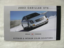 Cadillac CTS - Exterior & Interior Color Selections - US-Prospekt Brochure 2003