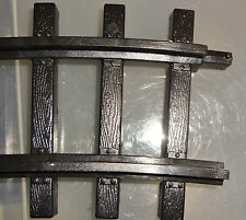 EZTEC LIONEL CURVED G SCALE PLASTIC TRACK-PURCHASE THE AMOUNT YOU NEED USED)