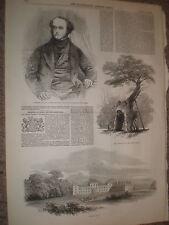 Il defunto lord George Bentinck 1848 old print e l'articolo