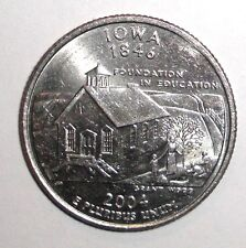2004 Us State Quarter, 25 cents, Iowa Schoolhouse coin