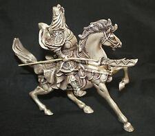 osmanischer Krieger zu Pferd Skulptur Neusilber alt 1. Hälfte 20 Jhd