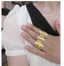Woman Vogue Jewellery Vintage Punk Style Gold Three Fingers Ring