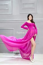 7 Colors Maternity Photography Props Party Long Pregnancy Dress Pregnant Clothes