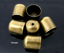 10 x END BEAD CAPS TIPS 9mm for KUMIHIMO  Bracelets & Necklaces ANTIQUE BRONZE