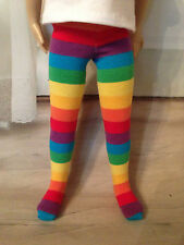 """Really Rainbow Tights for 13"""" Effner Little Darling doll"""