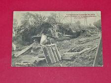 CPA 1914 LORRAINE HERIMENIL BATTERIE ALLEMANDE OBUS GUERRE 14-18 MILITARIA