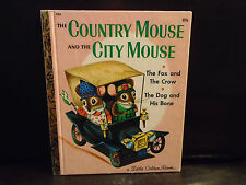 VTG COUNTRY MOUSE CITY MOUSE LITTLE GOLDEN BOOK,  .89 COVER