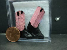 DOLLHOUSE COWBOY BOOTS/ PINK SNAKE SKIN/HANDMADE