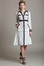 Byron Lars Beauty Mark Anthropology Shelby Long Sleeve Lace Dress 2 SOLD OUT NEW