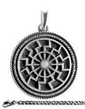 BLACK SUN + CHAIN AS Ancient German Pendant Necklace Antique Vintage Jewelry Art