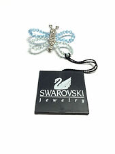 """SWAROVSKI"" Swan Mark Crystal Butterfly Pin Moveable Beaded Wings - New"