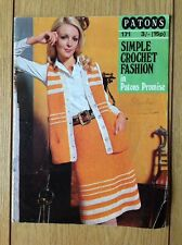 Vintage Patons Crochet Book. Simple Crochet Fashion