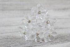 6 Wire Stem Acrylic Crystal Diamante Daisy Wedding Bridal Flowers Floral Crafts