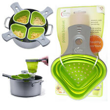 2Pasta Basket Healthy Steps Cooking Portion Control Green Kitchen Tool Silicone