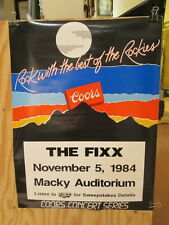 The Fixx live at Macky Auditorium (Boulder, Co) November 5, 1984 Rare Poster