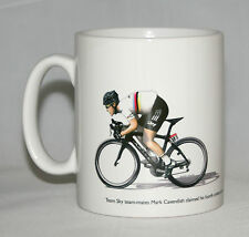 Cycling Mug. Bradley Wiggins and Mark Cavendish, Tour de France 2012