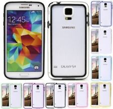BUMPER SAMSUNG GALAXY S5 I9600 CUSTODIA MASCHERINA COVER LATERALE VARI COLORI