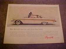 original 1957 Plymouth BELVEDERE full-color LARGE vintage estate ad--57 Mopar
